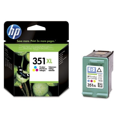 HP 351XL Tri-color Ink Cart, 14 ml, CB338EE