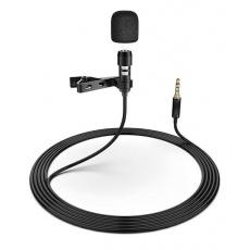 PLATINET klopový mikrofon Omega LAVALIER, s klipem, černá
