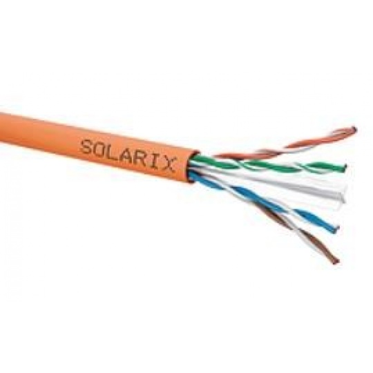 Instalační kabel Solarix UTP, Cat6, drát, LSOHFR, cívka 500m SXKD-6-UTP-LSOHFR-B2ca