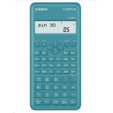 CASIO kalkulačka FX 220 PLUS 2E, modrá, školní, desetimístná