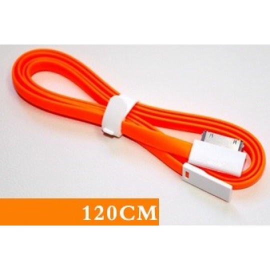 REMAX datový kabel pro iPhone 4/4S, iPad, mini, 1,2m dlouhý, oranžový