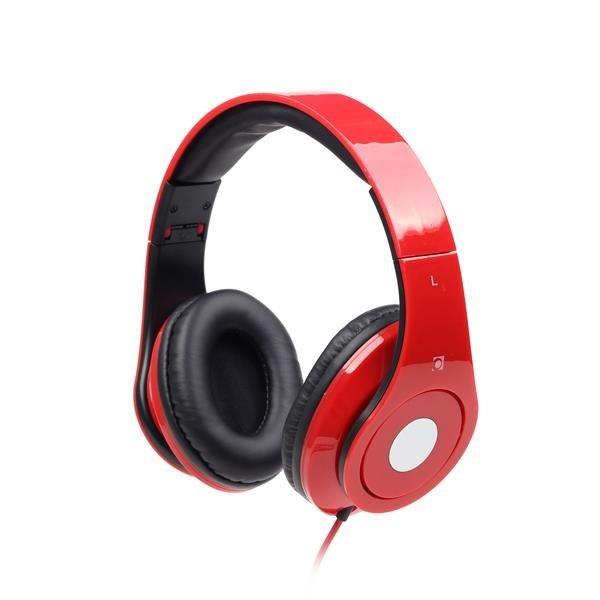 GEMBIRD sluchátka s mikrofonem Detroit, červená