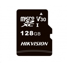 HIKVISION MicroSDXC karta 128GB C1 (R:92MB/s, W:40MB/s) + adapter