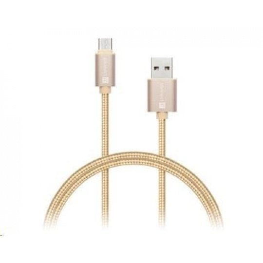 CONNECT IT Wirez Premium Metallic USB C - USB, rose gold, 1 m