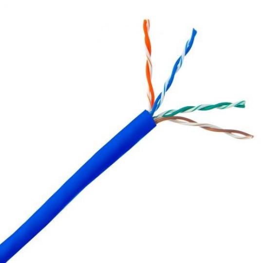 UTP kabel PlanetElite, Cat5E, licna, PVC, modrá, 305m