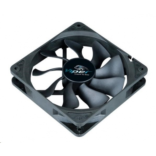 AKASA ventilátor Viper, Black Fan 12cm, 120x120x25mm, HDB, 4 pin PWM