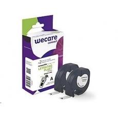 WECARE ARMOR páska pro DYMO S0721610, černá/bílá, 2 mm x 12mm x 4m