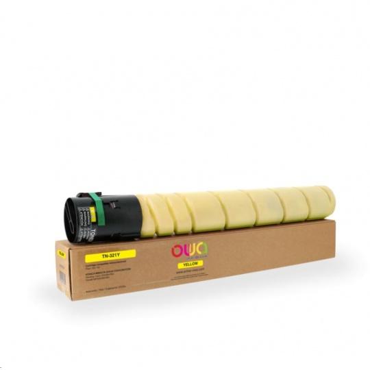 OWA Armor toner pro KONICA MINOLTA  bizhub C224/C284/C364, 25000 stran, TN-321 Y , žlutý/yellow