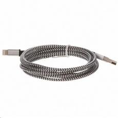CELLFISH univerzální pletený kabel, Lightning, 2 m, stříbrná