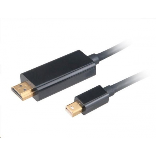 AKASA Kabel 4K Mini DisplayPort na HDMI active, adaptér, 1.8m