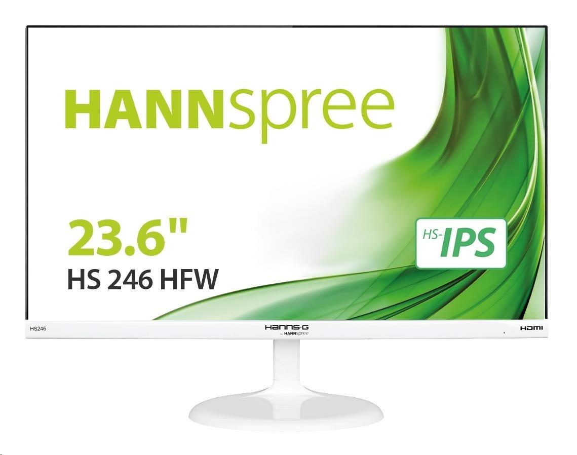 """HANNspree MT LCD HS246HFW 23,6"""" 1920x1080, 16:9, 250cd/m2, 1000:1 / 80M:1, 7 ms, Ultra Slim Bezel, White"""