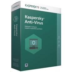 Kaspersky Anti-Virus 2019 CZ, 1PC, 1 rok, nová licence, elektronicky