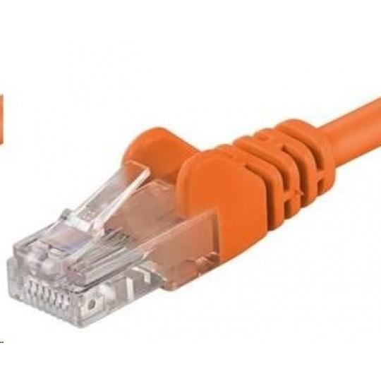 PREMIUMCORD Patch kabel UTP RJ45-RJ45 CAT5e 0.5m oranžová