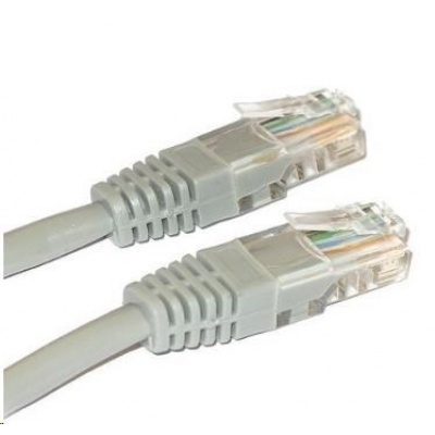 Patch kabel Cat6, UTP - 15m, šedý
