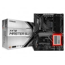 ASRock MB Sc AM4 X470 MASTER SLI, AMD X470, 4xDDR4, VGA