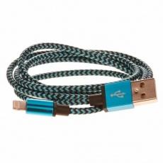 CELLFISH univerzální pletený kabel, Lightning, 2 m, modrá