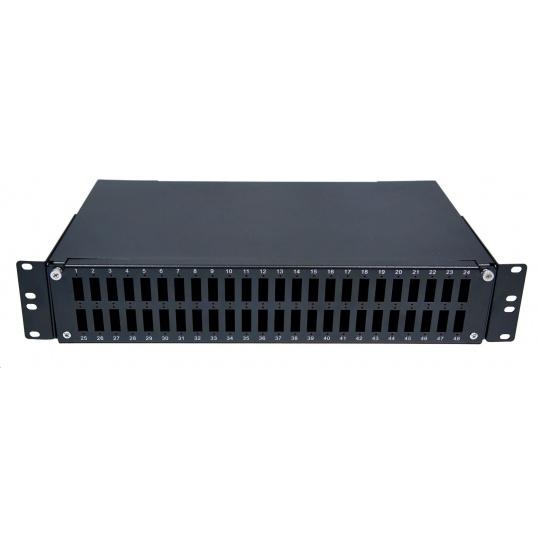 Optická vana výsuvná 2U, 48x SC duplex, kompatibilní s kazety Optronics, černá