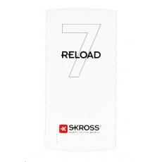 SKROSS powerbank Reload 7, 7000mAh, 2x 2.4A výstup, microUSB kabel, bílý