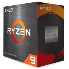 CPU AMD RYZEN 9 5950X, 16-core, 3.4 GHz (4.9 GHz Turbo), 72MB cache (8+64), 105W, socket AM4, bez chladiče