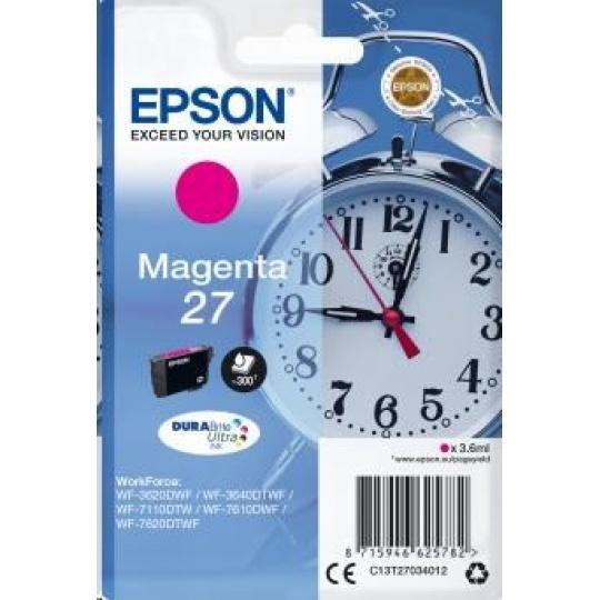 "EPSON ink bar Singlepack ""Budík"" Magenta 27 DURABrite Ultra Ink"