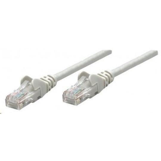 Intellinet patch kabel, Cat6 Certified, CU, UTP, PVC, RJ45, 5m, šedý