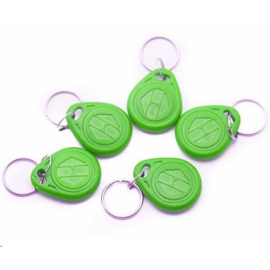 ESES klíčenka RFID, 125 KHz zelený, vyražené číslo, 100-pack