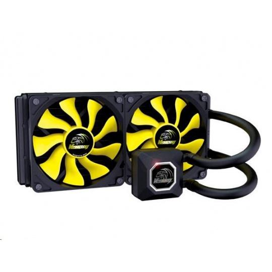 AKASA chladič CPU VENOM A20 pro patice LGA 775,115x, 1366, 2011,2066 Socket AMx, FMx, měděné jádro, 120mm PWM ventilátor