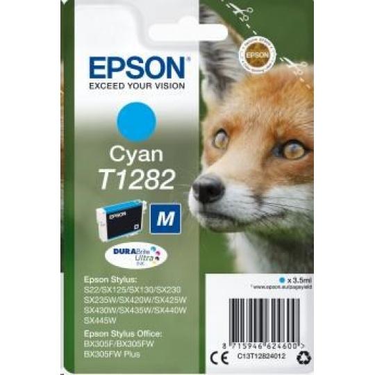 "EPSON ink bar Singlepack ""Liška"" Cyan T1282 DURABrite Ultra Ink (3,5 ml)"