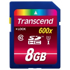 TRANSCEND SDHC karta 8GB Ultimate, Class 10 UHS-I, 600X
