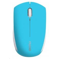 RAPOO myš M3360 Mini, optická, bezdrátová, 2.4G, modrá