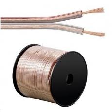 PremiumCord kabel 1m (jenom po 100m cela civka) na propojení reprosoustav 100% CU měď 2x 0,5mm2