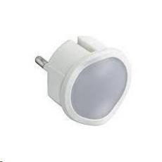 Legrand - LED nočné svetlo / núdzové svetlo LED studená+teplá biela, Stmievateľné, aj ako baterka, Biele