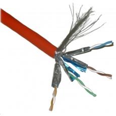 FTP TWIN kabel PlanetElite, Cat6A, drát, 4pár LS0H, Dca, oranžový, 500m