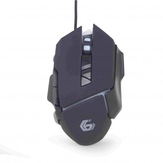 GEMBIRD myš MUSG-06, herní, optická, programovatelná, 4000DPI, USB
