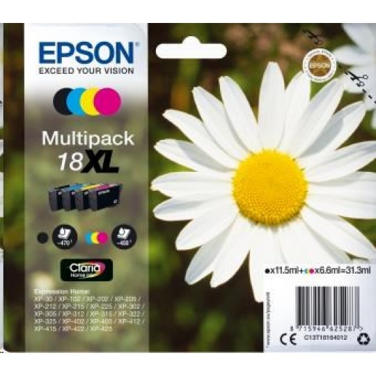 "EPSON ink Multipack 4-colours ""Sedmikráska"" 18XL Claria Home Ink"