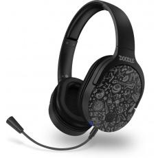 CONNECT IT sluchátka Doodle Wireless, bezdrátová, herní, mikrofon, černá
