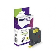 WECARE ARMOR páska pro DYMO S0720580, černá/žlutá, 12mm x 7m