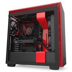 NZXT skříň H710 / ATX / průhledná bočnice / USB 3.0 / USB-C 3.1 / černočervená