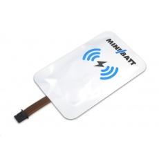 MiniBatt ReceiverCard - Qi nabíjecí samolepka micro USB A
