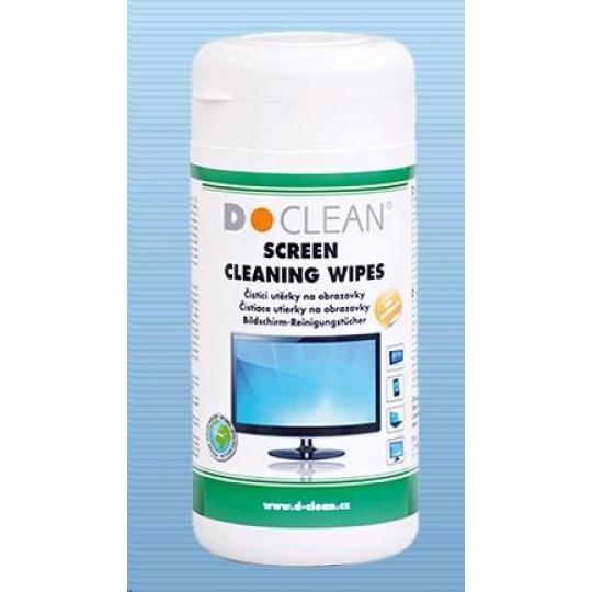 DCLEAN Čistící utěrky na obrazovky TFT/LCD/Plasma v dóze (100ks)