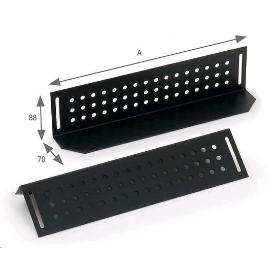 TRITON Nosné ližiny pro rozvaděč hloubky 800mm (A=480mm) - pár, černé