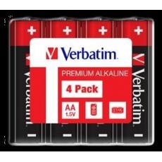 VERBATIM Alkalické baterie AA, 4 Pack - Shrink