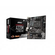 MSI MB Sc AM4 A320M-A PRO M2, AMD A320, VGA, 2xDDR4, mATX