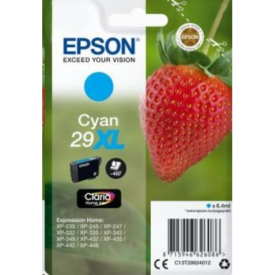 "EPSON ink bar Singlepack ""Jahoda"" Cyan 29XL Claria Home Ink"