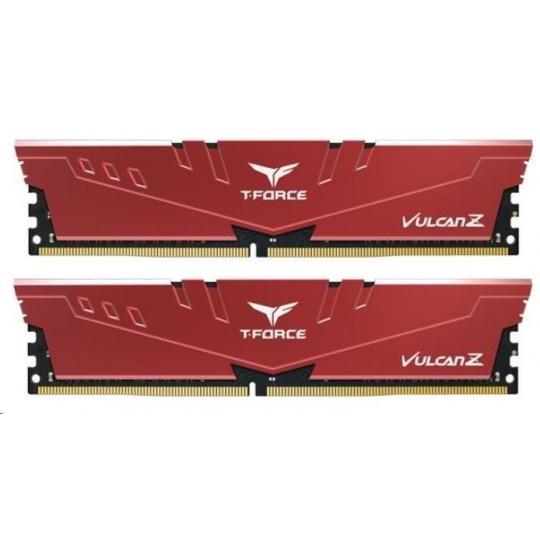 DIMM DDR4 8GB 3000MHz, CL16, (KIT 2x4GB), T-FORCE VULCAN Z, Red