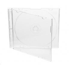 COVER IT Krabička na 1 CD 5,2mm slim box + tray čirý 10ks/bal