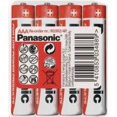 PANASONIC Zinkouhlíkové baterie Red Zinc R03RZ/4P AAA 1,5V (shrink 4ks)