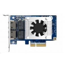 QNAP QXG-10G2TB Síťová rozšiřující karta (10GbE / 5GbE / 2,5GbE / 1GbE / 100MbE) sítě, dvouportová 10GbE pro NAS a PC