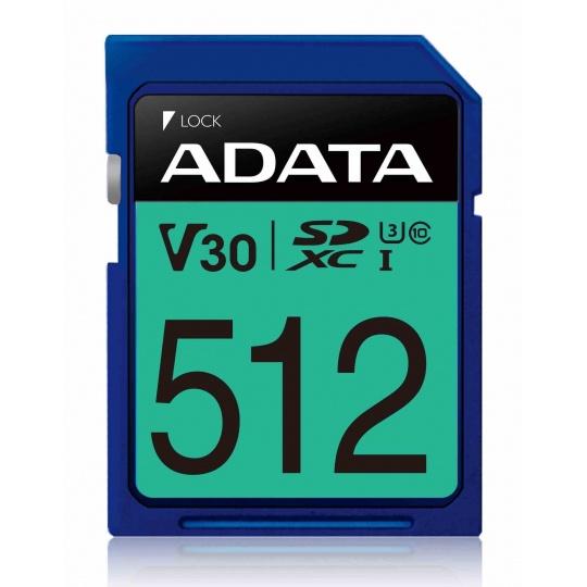 ADATA SDXC karta 512GB Premier Pro UHS-I U3 Class 10 (R:95/W:60 MB/s)