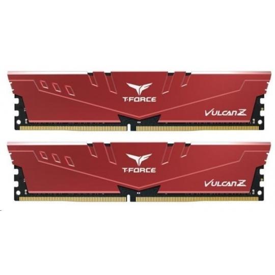 DIMM DDR4 8GB 2666MHz, CL18, (KIT 2x4GB), T-FORCE VULCAN Z, Red